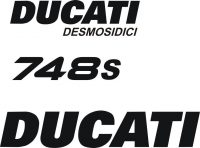 Ducati 748/916 Fairing Decal Set 6 Pieces - www.GraphicsPlus123.com