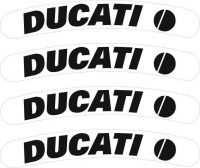 Ducati Wheel, Rim Decal Set, Ducati Superbike 4 Piece ALL Models - www.GraphicsPlus123.com