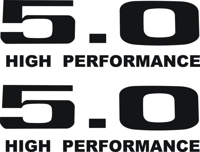 Ford Mustang 50 Liter High Performance Decal Set