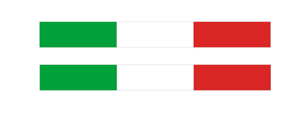 Ducati italian flag frame decal