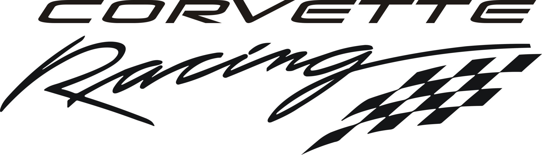 Corvette Racing Decal Checkered Flag Large - Racing decals